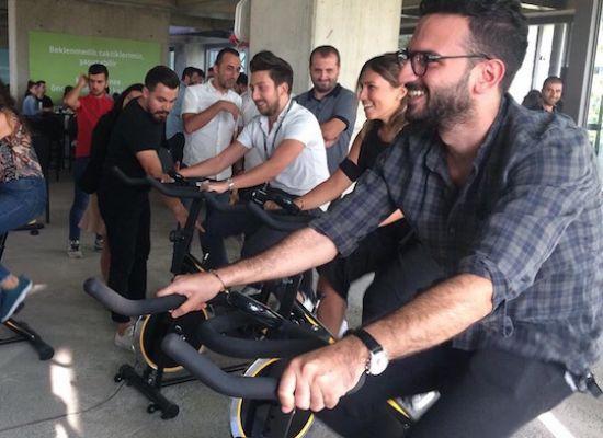 Dijital Spin Bike Parkuru